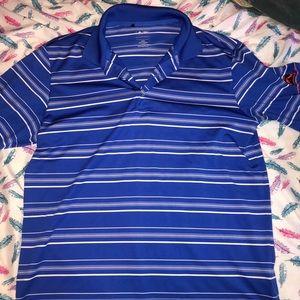 Adidas blue golf polo